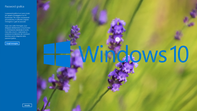 Windows 10: Creare una password grafica per accedere al computer