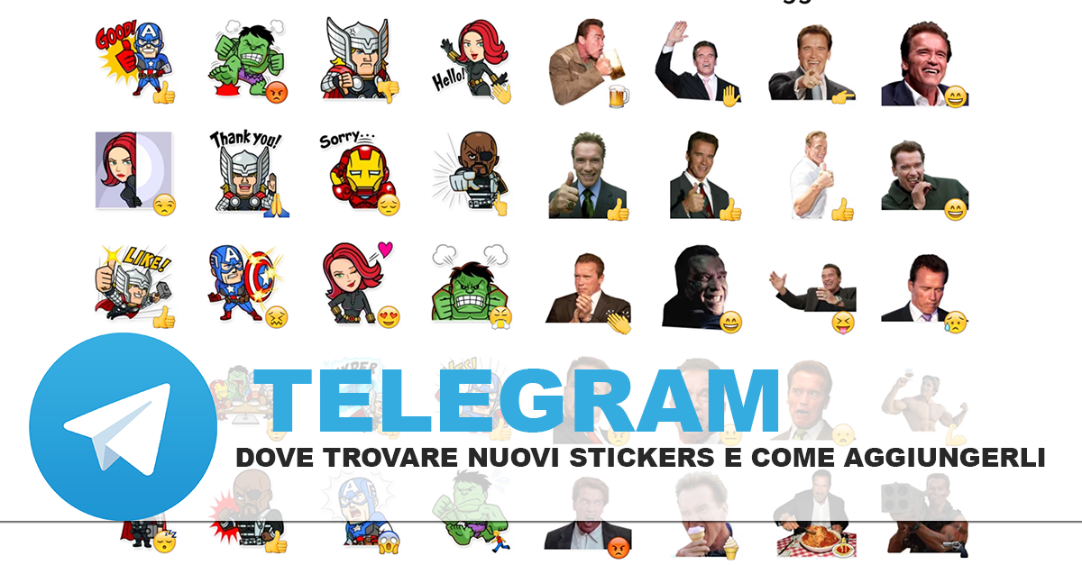 Nuovi stickers telegram