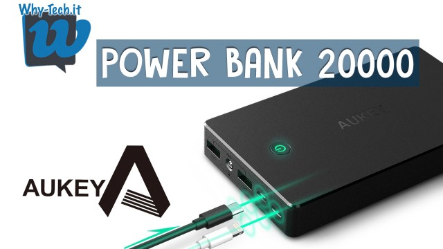 Recensione power bank 20000mAh - Aukey