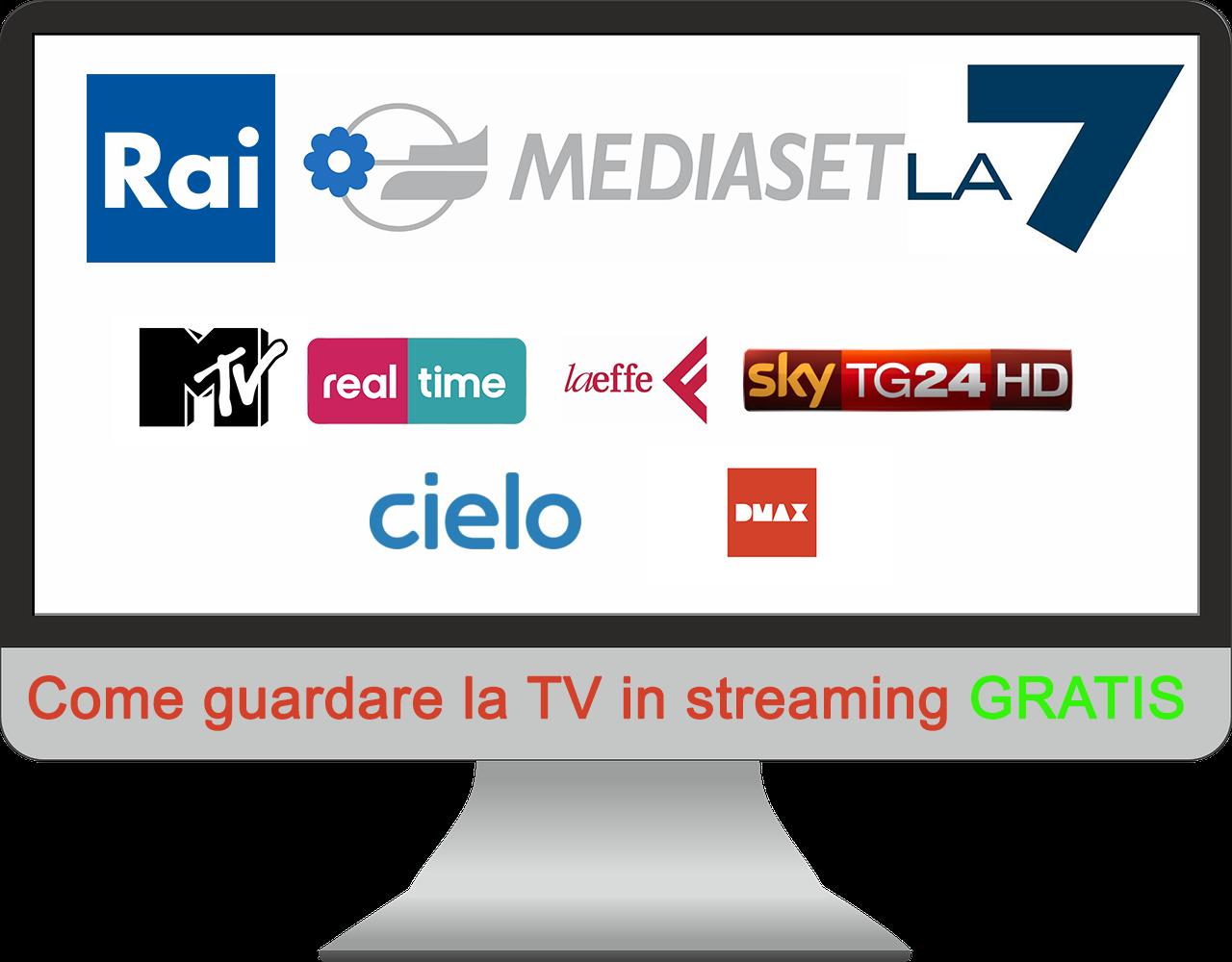 Come guardare la tv in streaming gratis for Guardare la tv