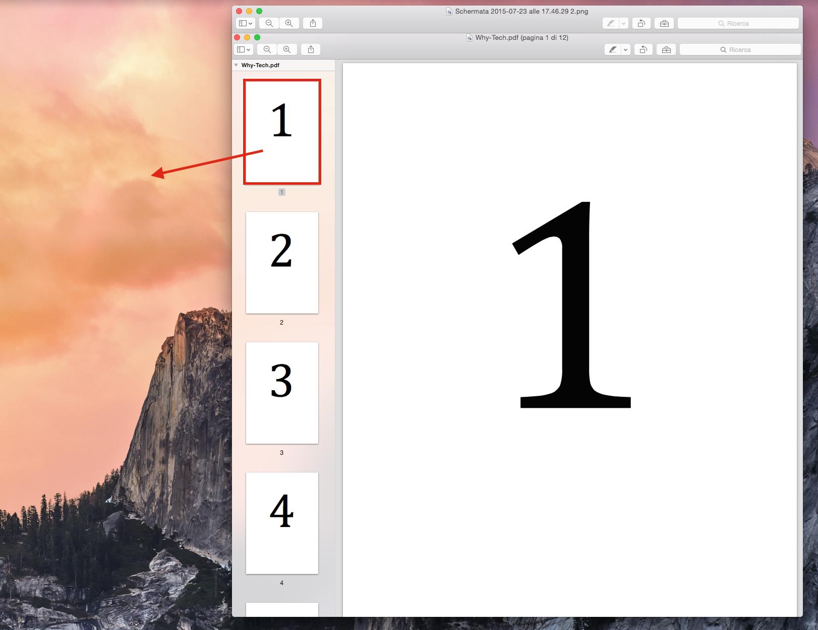 Dividere PDF su Mac