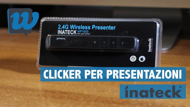 Recensione Clicker/Telecomando per presentazioni senza fili di Inateck