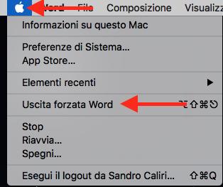 combinazione tasti mac uscita forzata