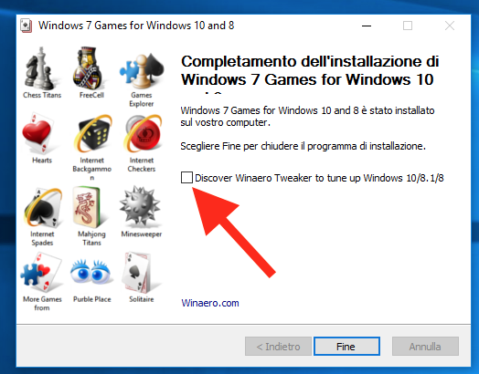 i giochi predefiniti di windows 7