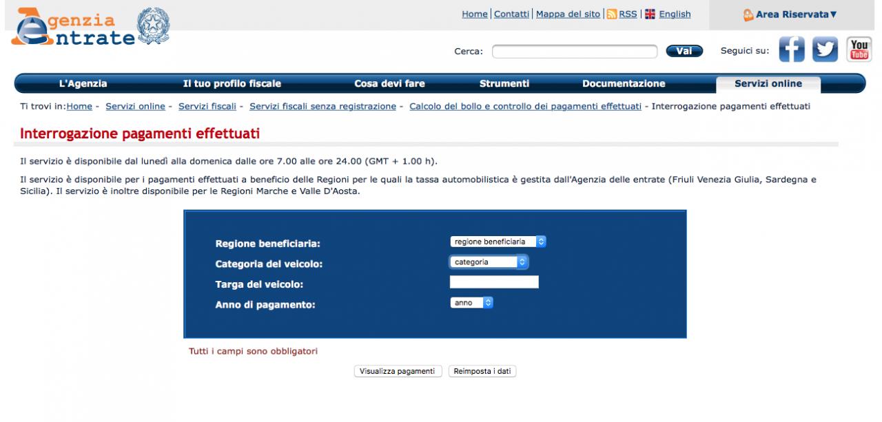 Come verificare online il pagamento del bollo auto why tech - Come sapere se un messaggio e stato letto ...