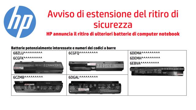 HP sostituisce gratuitamente le batterie difettose dei Notebook