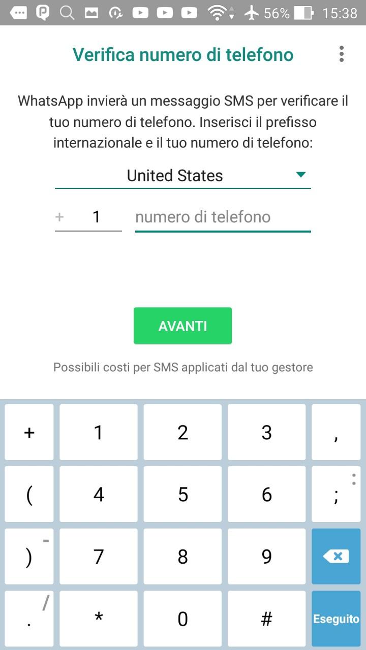 Come usare whatsapp senza sim e numero di telefono blog di informatica e tecnologia - Numero di telefono piscina ortacesus ...