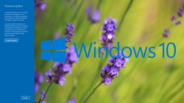 Windows 10: Creare una password grafica per accedere al computer