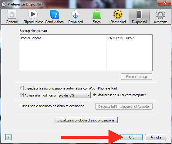 Come eliminare i backup iTunes di iPhone e iPad