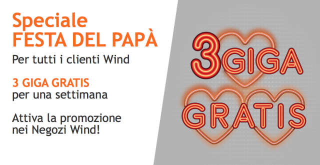 Wind regala 3GB per la festa del papà e lancia nuove promozioni All Inclusive
