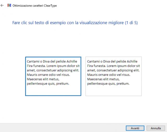 Migliorare la leggibilità del testo su Windows