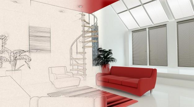 Le Migliori App Per Progettare E Arredare Casa. Sandro C.  3d Rendering Di Un Interno Contemporaneo Con La