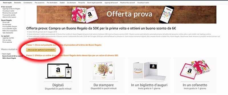 4f221450d3 Come ricevere un buono sconto di 6€ su Amazon - Why-Tech