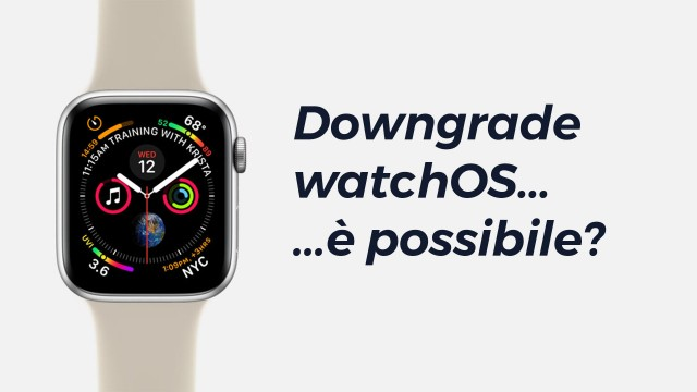 Downgrade-watchOS