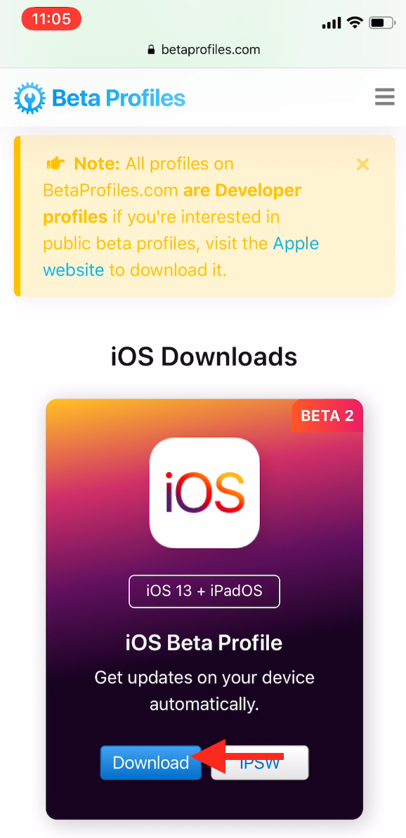 Ios Beta Profile