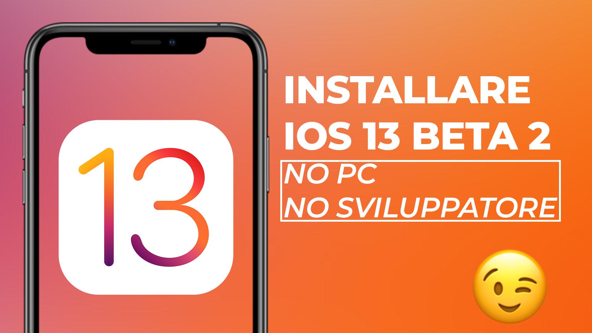 download ios 13 beta senza account