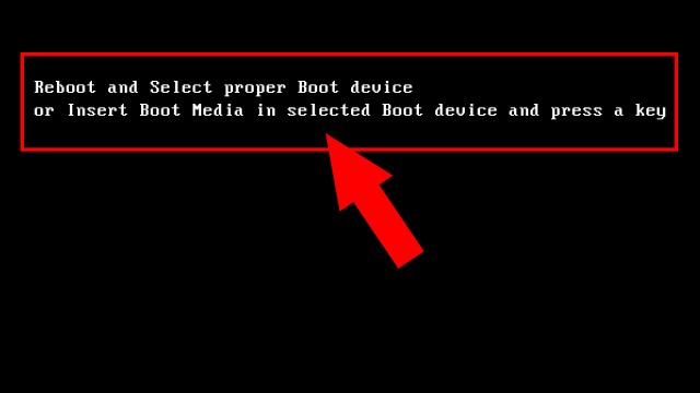risolvere-Reboot-and-Select-proper-Boot-device