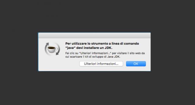 Risolvere-Per-utilizzare-lo-strumento-a-linea-di-comando-java-devi-installare-un-JDK-su-Mac