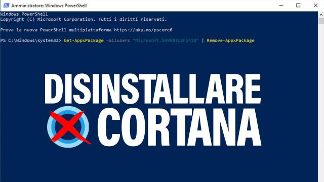 Disinstallare-Cortana