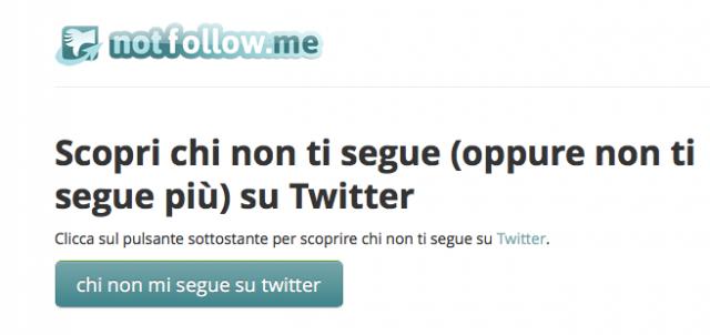 Come scoprire chi non ti segue su Twitter