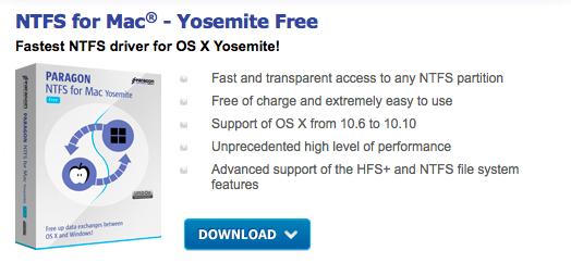 Paragon NTFS for Mac, gratis per chi non ha aggiornato a El Capitan