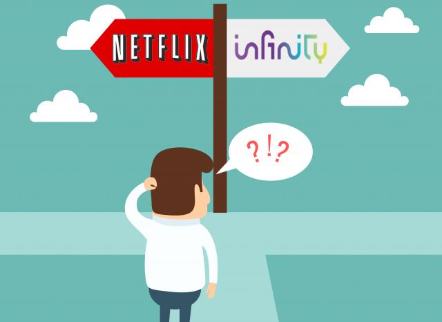 Netflix o Infinity, quale scegliere