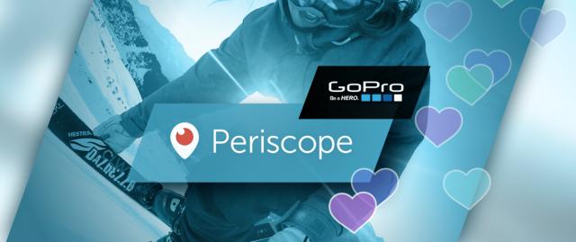 Periscope si aggiorna integrando il supporto con la GoPro