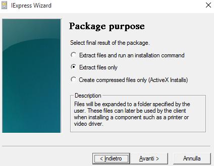 Come creare archivi autoestraenti con Windows