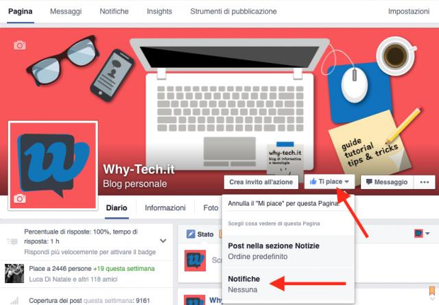 Come ricevere tutte le notifiche da una pagina Facebook