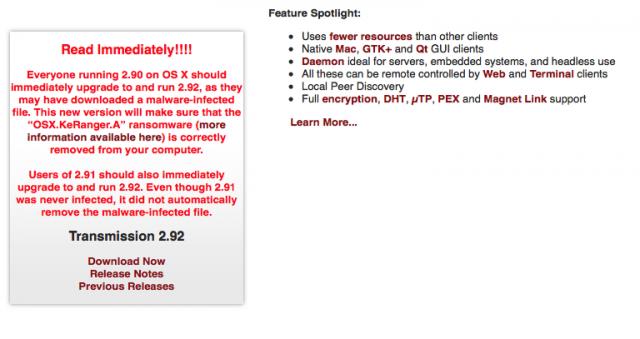 Attenzione, la minaccia dei ransomware arriva anche su Mac