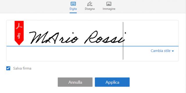 Come aggiungere una firma a un documento PDF