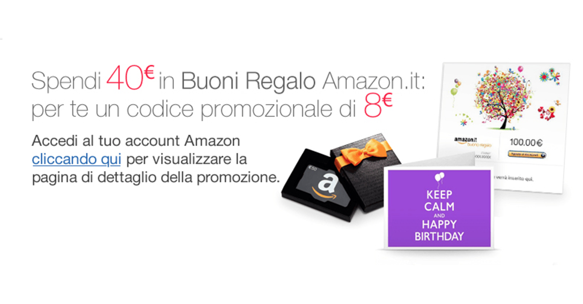 Buono regalo di 8 euro su amazon blog di informatica e for Regalare buono amazon