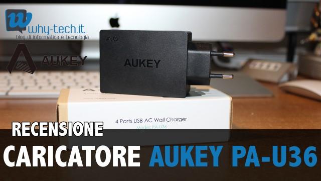 Recensione caricatore USB portatile da muro a 4 porte di AUKEY