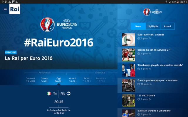 Come seguire gli Europei di calcio 2016 in diretta streaming da tablet o smartphone