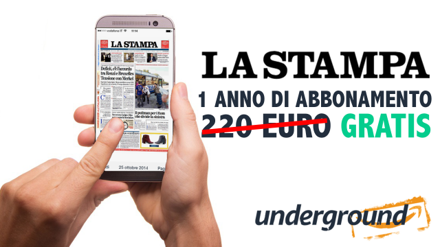"""Amazon Underground, in regalo un anno di abbonamento a """"La Stampa"""""""