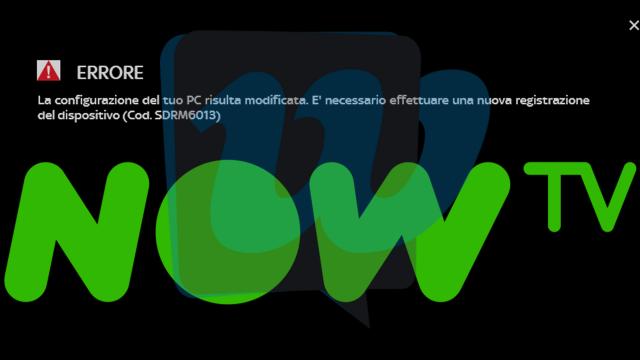 Sky Now TV come risolvere l'errore Cod. SDRM6013