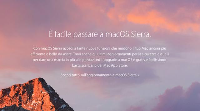 È stato appena rilasciato macCOS Sierra, ecco le principali novità