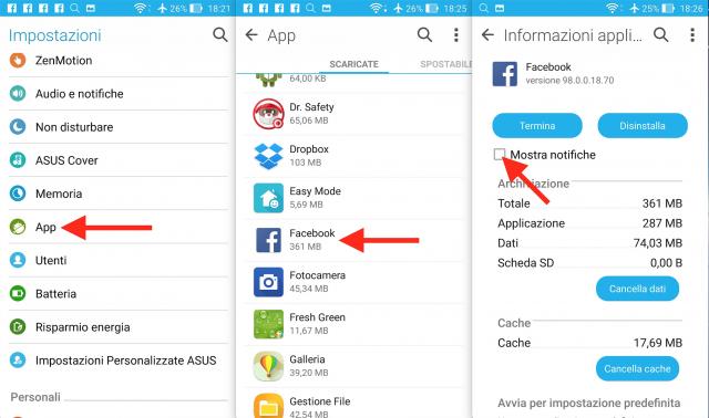 Come disattivare le notifiche su Android