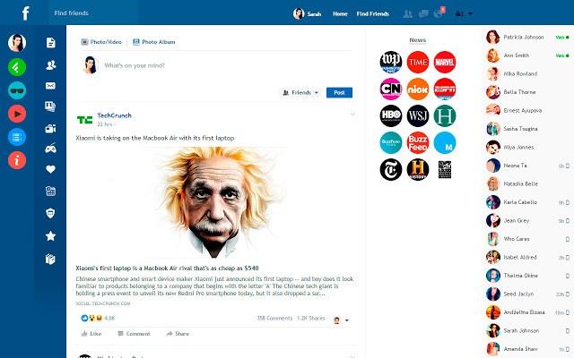 Come cambiare la grafica di Facebook ed eliminare la pubblicità