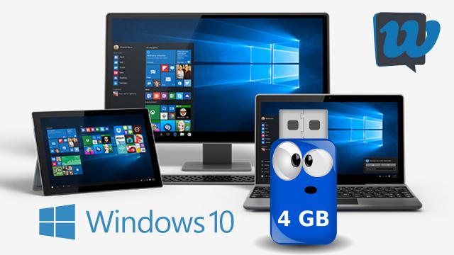 Come installare Windows 10 da una chiavetta USB