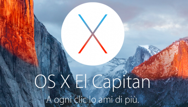 Apple rilascia OS X El Capitan 10.11.1