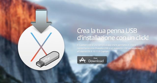 Scaricare e installare da zero OS X El Capitan utilizzando una penna USB avviabile