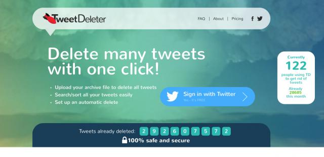 Come cancellare vecchi post da Twitter con un clic