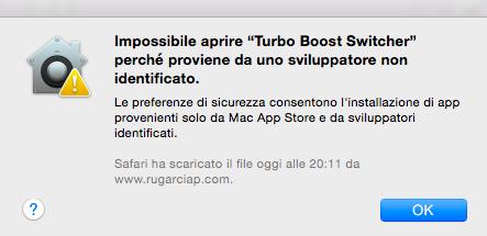 Mac, come aprire un'app di uno sviluppatore non identificato