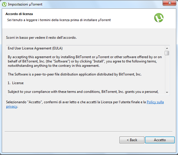 Come installare e configurare utorrent why tech - La finestra di fronte torrent ...