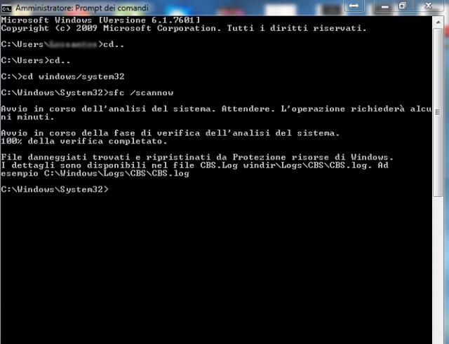 Cerchiamo e ripariamo i file corrotti di sistema Windows 7/8/8.1